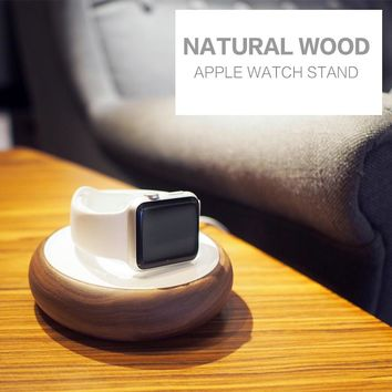 For Apple Watch Stand,100% Natural Wood Charging Dock Charge Station Stock Cradle Holder for Apple Watch Both 38mm and 42mm