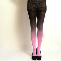 """Ombre Tights. Pink and black - as seen on """"Today Show"""""""