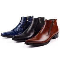 Free Shipping 2014 men's boots, dress boots. Men's shoes wholesale and retail
