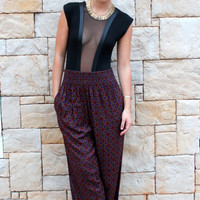 High Waisted Harem Pants-Indie-Boho-Bohemian