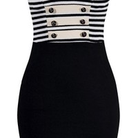 Women's Sailor Girl Striped Dress