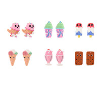 Katy Perry Ice Cream Stud Earrings Set of 6