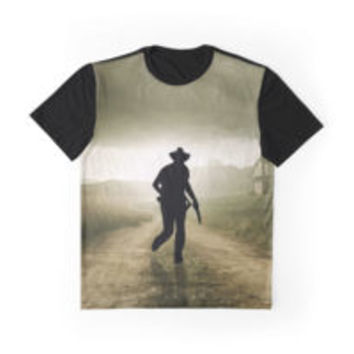 'The Walking Cowboy' Graphic T-Shirt by FlyNebula
