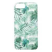 Tropical Palm Tree Leaves Pattern iPhone 7 Case