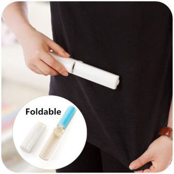 Easy Washable Lint Dust Hair Remover Cloth Sticky Roller Brush Cleaner Folding