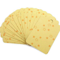 Gift Tags Yellow Orange Stars Wrapping Paper