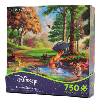Disney Thomas Kinkade Winnie The Pooh Tigger 750 Pieces Puzzle New With Box