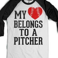 White/Black T-Shirt | Baseball Girlfriend Shirts