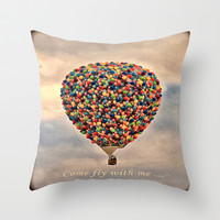 Come fly with me ... Throw Pillow by Becky Dix