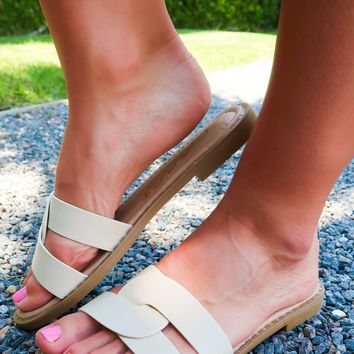 Make Your Move Sandals: Beige