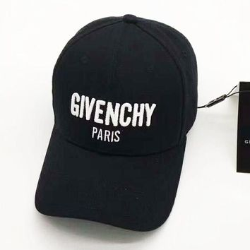 Givenchy Sport Hat Sunhat Embroidery Baseball Cap Hat B-A-HRWM Black