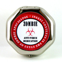 Kitschville — Zombie Anti-Virus Medication Pill Case (just in time for the apocalypse!)