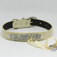 Marry Me ring bearer dog Collar, Pet Accessory, Puppy Love, Proposal, Handmade, Engagement
