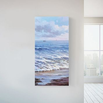 No Framed Ocean Handed Painting Printed Painting Oil Painting By Numbers Oil Painting For Living Room Home Wall Art Picture