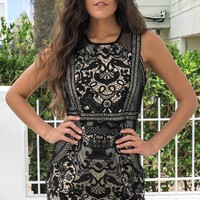 Touch My Heart Black Lace Dress