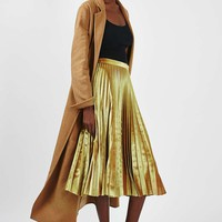 TALL Velvet Pleated Midi Skirt - New In