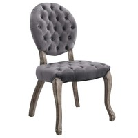 Exhibit French Vintage Dining Performance Velvet Side Chair