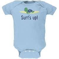 Sea Turtle Surf's Up Summer Cute Soft Baby One Piece