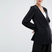 Monki Tailored Double Breasted Blazer at asos.com