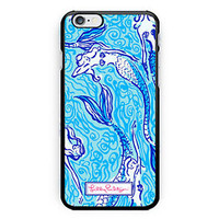 New Lilly Pulitzer Mermaid Pattern Print On Hard Case For iPhone 6s 6s plus
