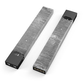 Skin Decal Kit for the Pax JUUL - Distressed Silver Texture v7