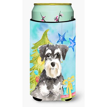 Christmas Tree Schnauzer #2 Tall Boy Beverage Insulator Hugger CK1870TBC