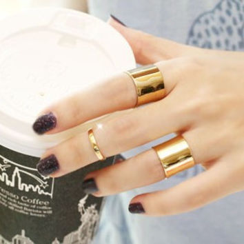 Stylish New Arrival Jewelry Shiny Gift 3-pcs Silver Adjustable Ring [6586144263]