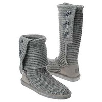 Women's BEARPAW  Knit Tall Gray FamousFootwear.com