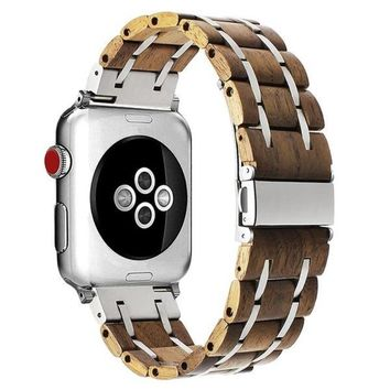 Apple iWatch Walnut Stainless Steel Watchband