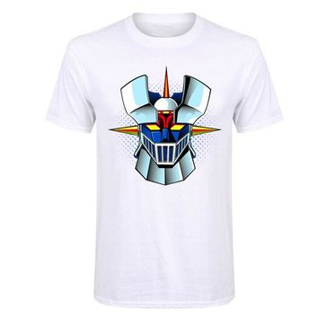 Anime T-shirt graphics Interesting Mazinger Z T shirts men Anime old classic manga robot movie T-Shirt Black Basic Tees shirt for boys 2017 fashion new AT_56_4