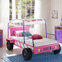 Pink Malibu Twin Jeep Bed