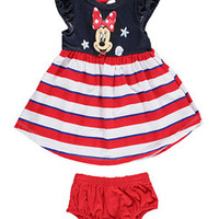 Minnie Mouse Baby GirlsSeashells Dress with Diaper Cover-tre01547