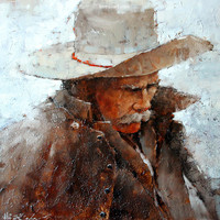 Andre Kohn Cold Morning on the Ranch [Andre Kohn_A7171] - $99.00 oil painting for sale|Wonderful artwork|Buy it at once.