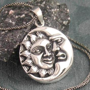 Moon Enveloping the Sun Necklace
