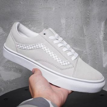 Trendsetter VANS Old Skool Checkerboard Canvas Sneakers Sport Shoes