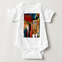 merger-abstract art baby bodysuit