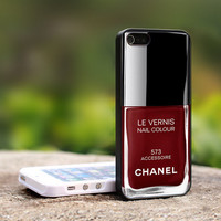 Chanel Accessoire Nail Polish - Girly Make Up - TCATB229 - For iPhone 4 / 4S Case, iPhone 5 Case ( Black, White, Clear)