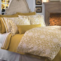 Downtown Company Freccia Reversible Duvet Cover in Gold