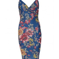 Cami Fiona Floral Blue Dress