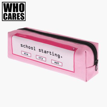 Shool starting 3D printing cosmetic bag women makeup bag 2017 pencil case pouch maleta de maquiagem travel organizer necessaire