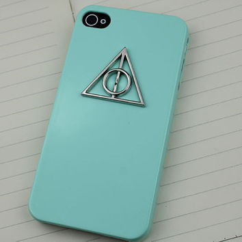 Deathly Hallows Harry Potter Light Green Hard Case for iPhone 4 Case,4g,4gs