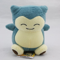 Hot 15cm Plush Toys Snorlax Plush Cute Soft Stuffed Animal Toy Figure Collectible Doll Children Christmas Gift KaBiShou