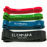Premium Assisted Pull Up & Resistance Fitness Bands, Continuous Loop   For Weight Lifting, CrossFit, Pilates & More   Heavy Duty Stretch Latex   For Men & Women