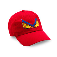 """Posh Dad Hat """"Don't Get Me Angry"""" in Red"""