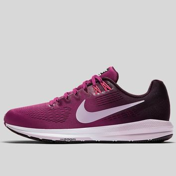 AUGUAU Nike Wmns Air Zoom Structure 21 Tea Berry Iced Lilac-Port Wine