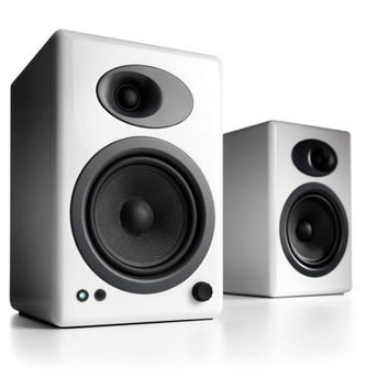Audioengine: A5+ Powered Bookshelf Speaker System - White (A5+W)