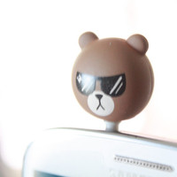 SALE30-70%OFF: Brown Bear Koni sticker Anti Dust Plug 3.5mm Phone Accessory Charm Headphone Jack Earphone Cap iPhone 4 4S iPad HTC Samsung