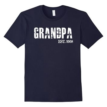 Mens Grandpa Est 2008 Father's Day Gift From Daughter Son T Shirt