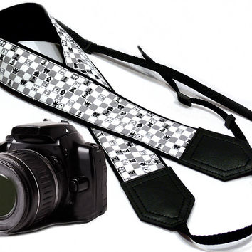 Chess Camera Strap. Game Camera Strap. Original design Camera Strap. DSLR / SLR Camera Strap.  For Sony, canon, nikon, panasonic, fuji and other cameras.