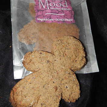 In the Mood Blend HOODOO BISCUIT ~ Voodoo Cookie - Curio - Occult Supply - Macabre Ornament - Ceremonial Tool - Includes One or Two Biscuits